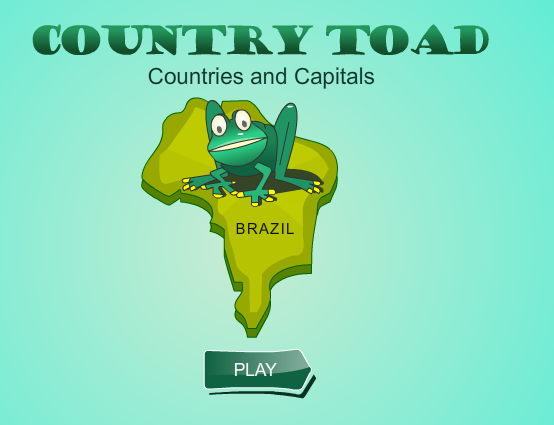 Country Toad Countries and Capitals