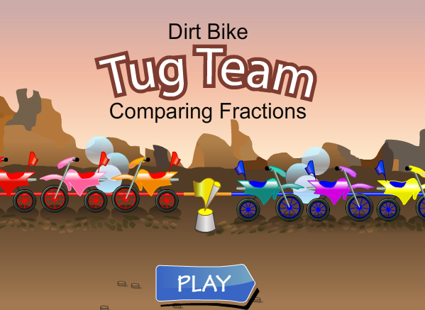 Dirt Bike Comparing Fractions