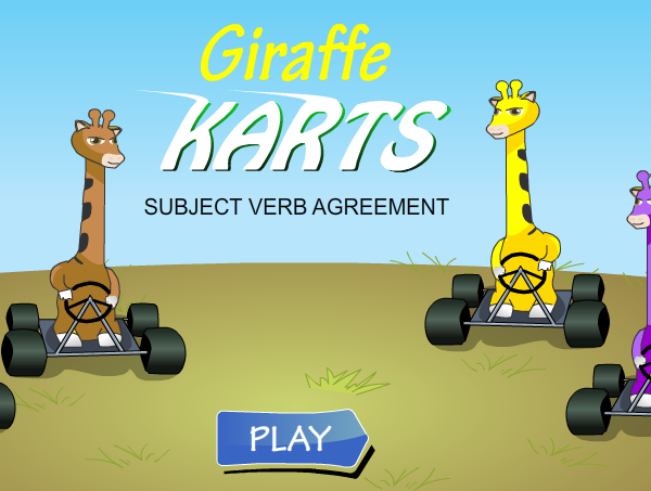 Giraffe Karts Subject  Verb Agreement