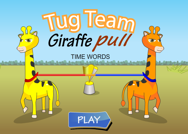 Giraffe Pull Time Words
