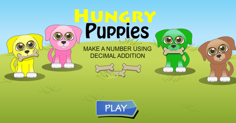 Hungry Puppies Decimal Addition