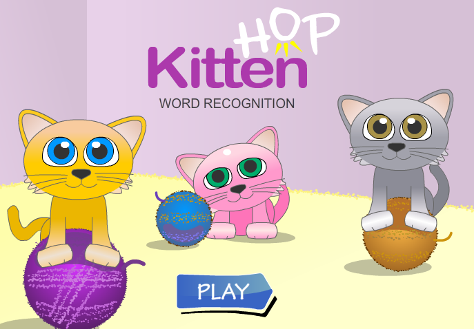 Kitten Hop Word recognition