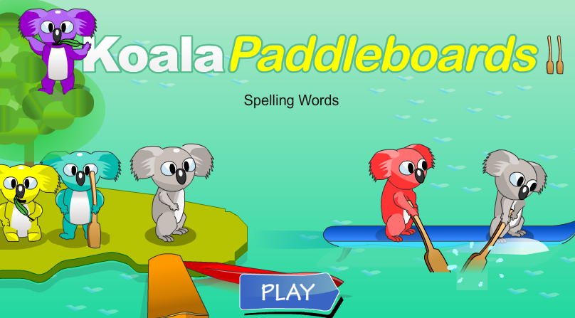Koala Paddleboards Spelling Words
