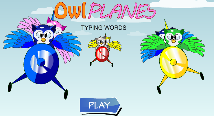 Owl Planes Typing Words