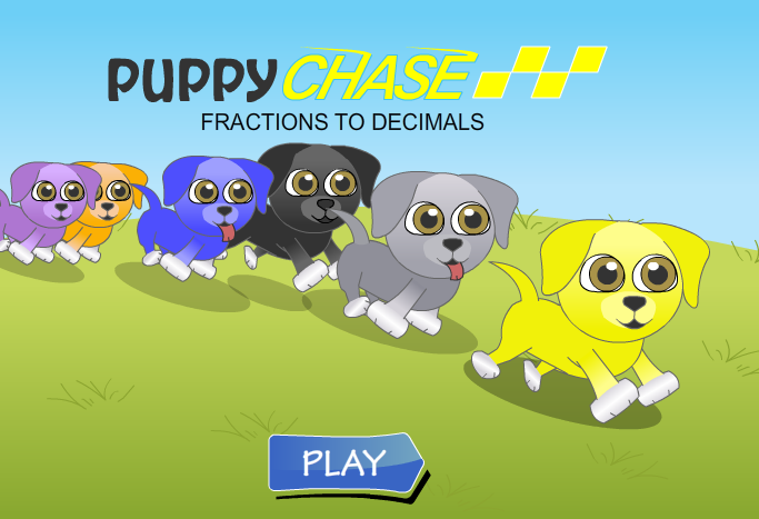 Puppy Chase Decimal Conversions
