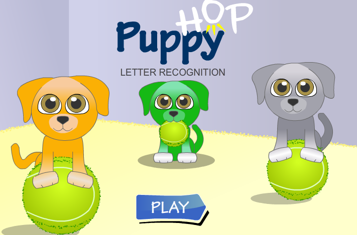 Puppy Hop Letter Racing