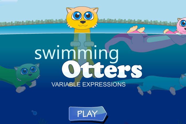 Swimming Otters Algebra Expressions