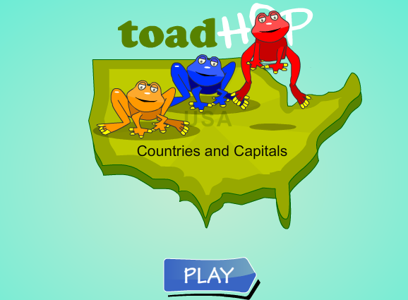 Toad Hop Country Capitals