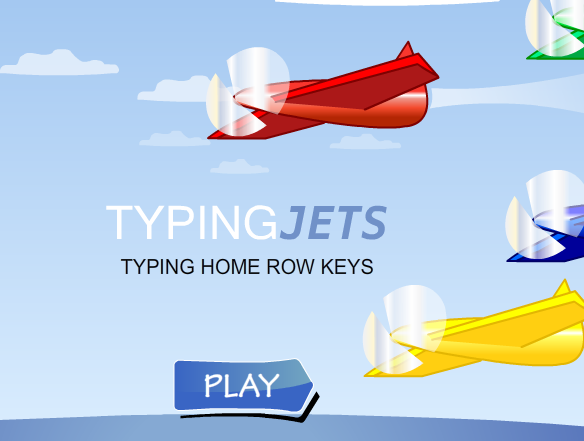 Typing Jets Home Row