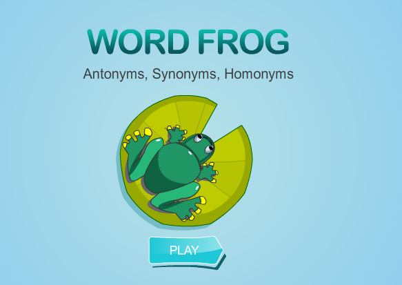 Word Frog Synonyms, and Homonyms